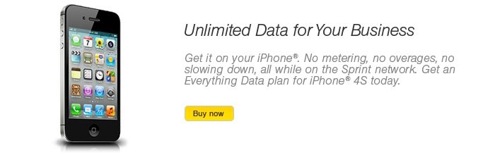Get unlimited data for your business on your iPhone